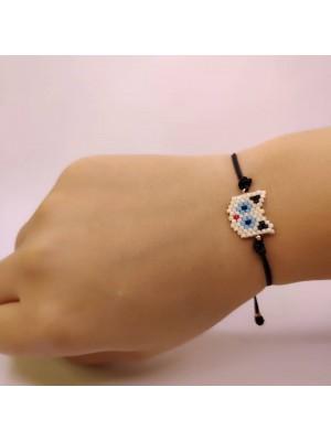 Miyuki Cat Bracelet (White)