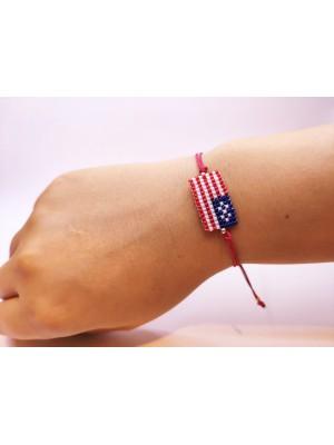 Miyuki Amerika Bayraklı Bileklik